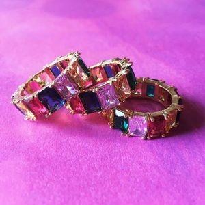 Rainbow Baguette Ring (Single)